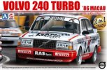 Aoshima 09825 - 1/24 Volvo 240 Turbo 1986 Marcau Guia Race Winner Beemax No.16