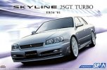 Aoshima 05596 - 1/24 Nissan ER34 Skyline 25GT Turbo \'01 Custom Wheel The Model Car No.SP