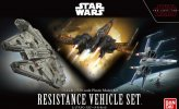 Bandai 219769 - Resistance Vehicle Set 1/144 & 1/350 Scale (The Last Jedi)
