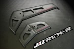 Plastic Horizontal / Vertical Tail Stabilizer Fin Set For Align Trex T-rex 450 AE SE V2 parts - Jazrider Brand [JR-HAG-TX450-048]