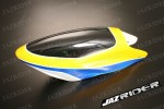 Align T-rex TRex 500 parts - Canopy (Black with Yellow) - Jazrider Brand [JR-HAG-TX500-033]