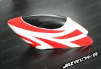 Glass Fibre Canopy (White w/ Red Stripe) For Align T-rex TRex 500 parts - Jazrider Brand [JR-HAG-TX500-057]