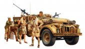 Tamiya #32407 - 1/35 British LRDG Command Car - North Africa (w/7 Figures)