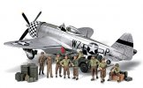 Tamiya #89754 - 1/48 WWII U.S. Infantry At Rest w/Republic P-47D Thunderbolt 'Bubbletop'