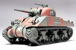 Tamiya #26506 - 1/48 US Med Tank M4 Sherman - Finished EP 66th Armored Reg. WWI