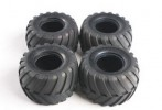 Tamiya #9805213 - RC Tire Set for Midnight Pumpkin/Lunch Box/Volkswagen Type 2: 58063/58070/58068/58512 - (4pcs)